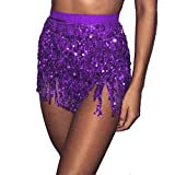 4875002d25ddd UJUNAOR Gonna da Minigonna Donna con Paillettes e Gonna a  Palloncino(Waist 60-