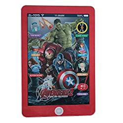 Adraxx Kids Educational Tablet Pad With 3D Screen Stories, Lullaby, Music And Flashing Light