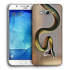 Snoogg Green Snake Designer Protective Back Case Cover For SAMSUNG GALAXY A8