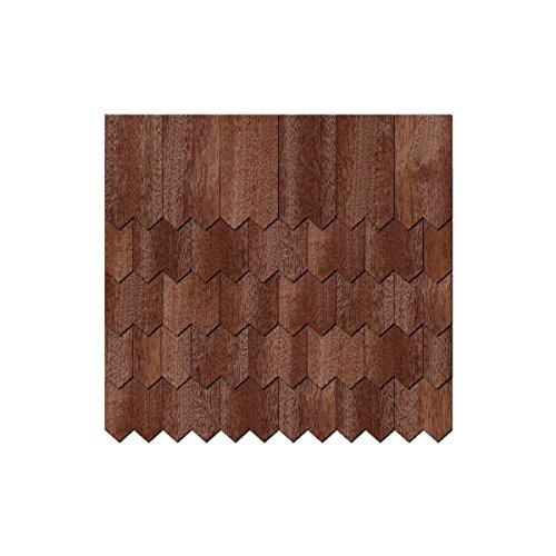 Chapa de madera auténtica Tejas oscuros.-dentadas Forma-Tamaños y cantidad de selección de, 250 unidades, 40mm x 20mm