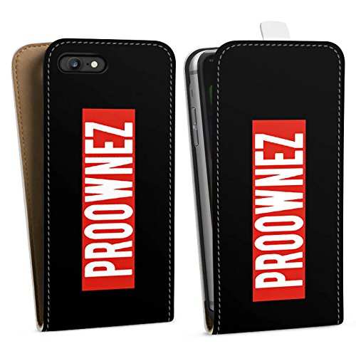 Apple iPhone X Silikon Hülle Case Schutzhülle Proownez Fanartikel Merchandise Youtuber Downflip Tasche weiß