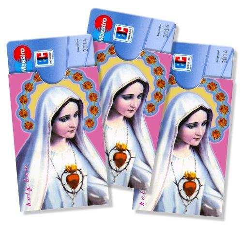 cardbox Motiv: Madonna/Maria mit Schein /// 3er Set /// Führerscheinhülle, Bankkartenhülle, Personalausweishülle