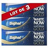 Signal White Now Dentifrice Blancheur Gold 50ml - Lot de 3