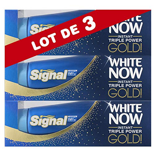 Signal White Now Dentifrice Blancheur Gold 50ml - Lot de 3