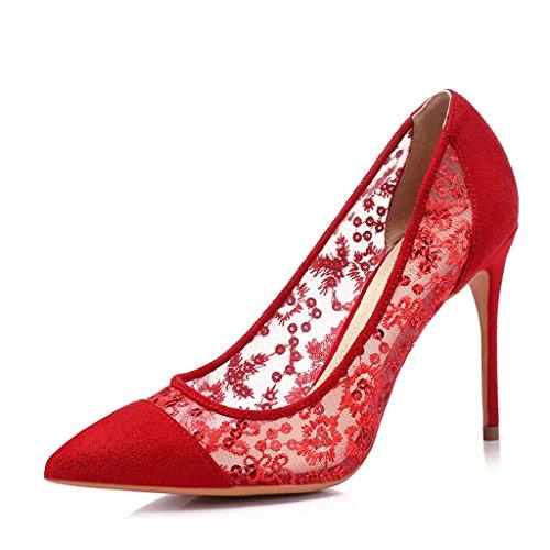Chaussures à talons hauts pointés à la main