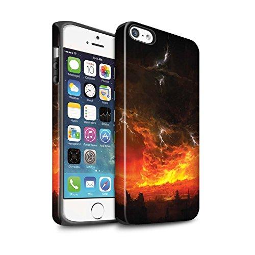 Offiziell Chris Cold Hülle / Matte Harten Stoßfest Case für Apple iPhone 5/5S / Tränen der Eva Muster / Gefallene Erde Kollektion Apokalypse