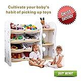 Bücherregal Kinder Spielzeugkiste Kinderregal Kommode Bücherregal Kinderzimmer Spielzeugregal Aufbewahrungsregal Kinderregal mit Aufbewahrungsboxen mit 8 Kunststoffkästen (A + B)8binsAB