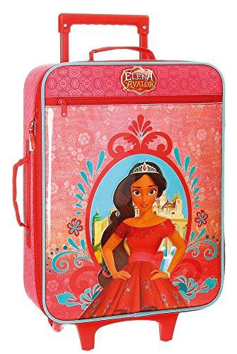 Disney Elena de Avalor Equipaje Infantil, 50 cm, 25 Litros, Rojo
