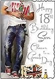 Jonny Javelin Son 18th Birthday Card
