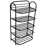 #3: Ebee 5 Layer Black Shoe Rack