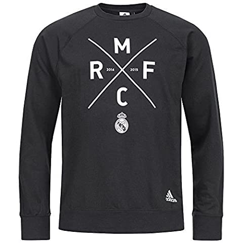 Real Madrid adidas Hommes Graphique Sweat Sweat M30992 - Noir, , XXL