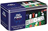 Pro Poker Texas Hold'em Set - Tin