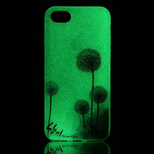 inShang iPhone 7 Hülle 4,7 inch [Transparent iPhone 7 Cover] [Luminous im Dunkeln], Ultra Schlank und leicht TPU Bequem Schutzhülle Rückcover (Back Case) design 25