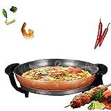 Sinbide elektrischePartypfanne Elektropfanne Pizzapfanne Partypfanne Multipfanneelektrischer TischgrillPaella Pfanne zum Grillen, Backen, Kochen