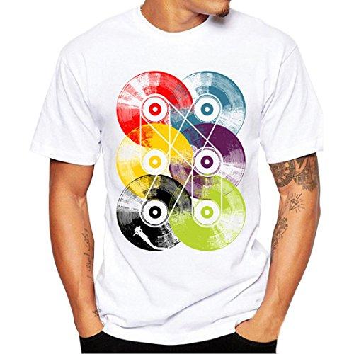 Btruely Herren Shirt Mode Kurzarmshirt Slim Fit T-shirt Sports Top Männer Freizeit Hemd (S, Weiß) (Hoffe, Shirt Golf)