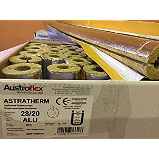 Austroflex Pipe insulation 28 x 20mm filled with Box 30m Contains Pipe bowls foil-laminated Rock wool mineral wool Mineral fiber shell Isolation