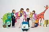Lässig Trolley Kindertrolley stabil Reisegepäck Kinder Reisekoffer Koffer mit Packriemen, Reißverschlussfach, Namensschild, Wildlife Giraffe - 3