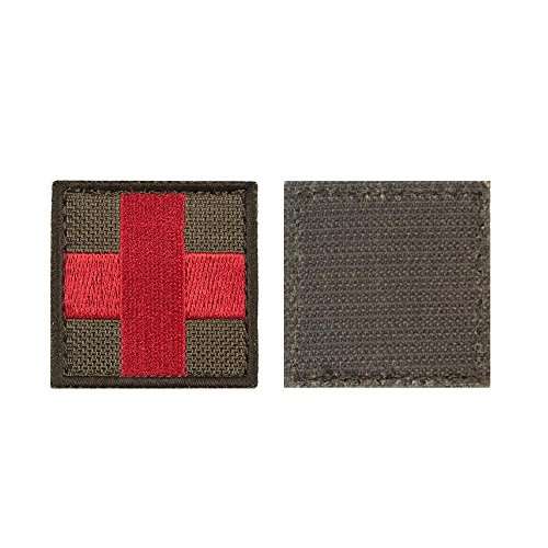 yisibo-tactical-patches-2-pieces-velcro-embroidered-morale-military-patch-about-service-dog-red-cros