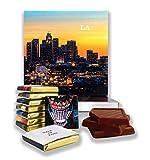 """Lustige Los Angeles City Essen Geschenk ⌘ """"LOS ANGELES CITY"""" ⌘ eine schöne LA Schokolade Set! (Gold Prime)"""