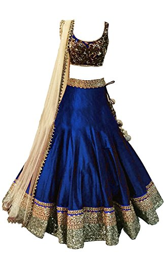 Vastra fashion Girls\' Georgette Navyblue Lehenga Choli (Designer Kids_Navy Blue_Free Size)