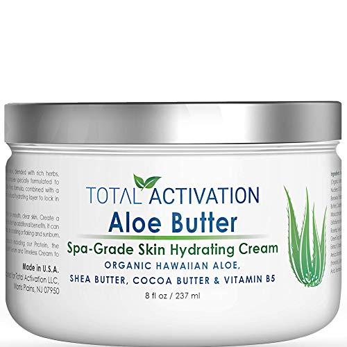 Hawaiian Bio Organic Aloe Vera Cream Regenerating Feuchtigkeitscreme Für Körper- & Gesichtscreme Ölige/Trockene/Empfindliche Hautcreme Heilt & Beruhigt Besser als Pure 100 Aloe Vera Gel 8 Unze