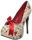 Pinup Couture - zapatos de tacón mujer, color crema, talla 41.5 (8 UK)