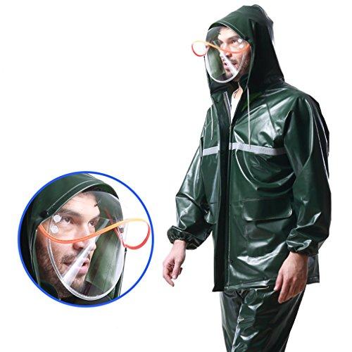 Raincoat Regen Hosen Transparente Erwachsene Männer und Frauen im Freien Fahrt Breath Split-Fahrrad-Motorrad Regenjacke Wasserdichte Jacke Regen-Gang (Farbe : # 1, größe : XL)
