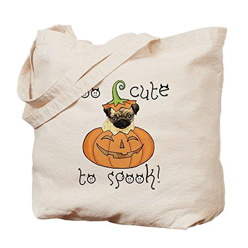 CafePress - Halloween-Mops - Naturleinen-Einkaufstasche aus Stoff