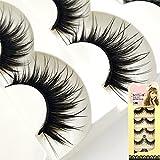 #8: SBE New 10 Pairs Long Black False Eyelashes Makeup Faux Non Magnet Extension Eyelashes
