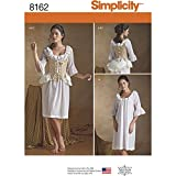 Simplicity pattern 8162Misses '18th Century indumenti intimi per cucito, bianco, size R5
