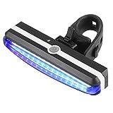 Ultra helles Fahrradlicht, YooGer USB aufladbare Fahrrad-Rücklicht. High Intensity Rear LED Zubehör, Helme. Einfach zu installieren für Radfahren Sicherheit Taschenlampe. (Rot + Blaues Licht)