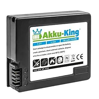 Akku-King Battery compatible with Sony NP-FF50 NP-FF51 NP-FF51S - 750 mAh Li-Ion