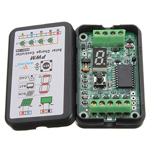 campos de aplicación:   El regulador usado en el panel solar máximo Spec 18V/40W (voltaje de circuito abierto máximo 23V), las luces solares del LED 12V/36W de la especificación de la carga máxima y otros tipos de sistemas de uso.   características f...