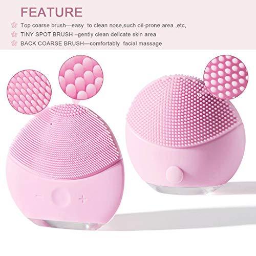 Xiaoyi Esponja limpiadora de silicona para la cara cepillo y masajeador facial eléctrico resistente al agua sistema limpiador y antienvejecimiento para todo tipo de pieles