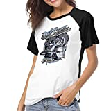 Photo de Kmehsv Raglan T-Shirt pour Femme Baseball Blouse,Chemise Bob Seger The Silver Bullet Band Printed Crew Neck Casual Tee Tops par Kmehsv