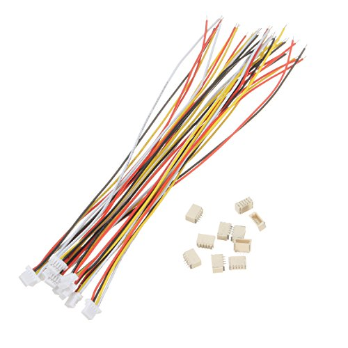 ILS - 20 piezas Mini Micro JST 1.0mm SH 4-Pin Connector Plug con Wires Cables 150mm