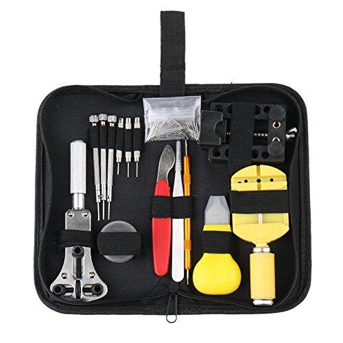 Preisvergleich Produktbild eCommerceTek Uhrenwerkzeug Set 147tlg Uhrmacherwerkzeug Uhr Werkzeug Tasche Reparatur Set Uhrwerkzeug Gehäuse Öffner in Nylontasche watch tool