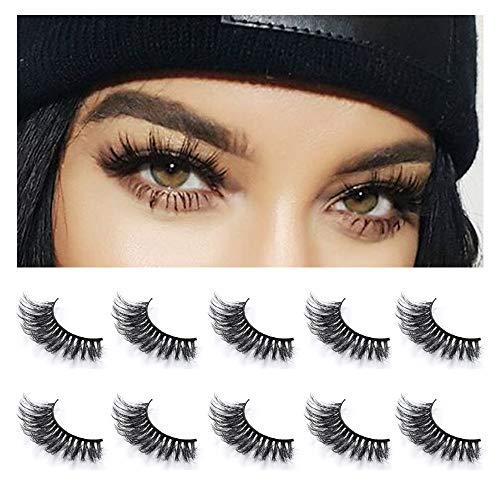 29704f667e5 Neflyon Premium Quality Eye Lashes 100% Handmade Reusable Soft and Long 3D  Mink False Eyelash