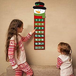 PATAZOK Calendario de Adviento Colgante 1pcs Calendario de Muñeco de NieveDecoraciones temáticas de Cuenta Regresiva de Navidad Adornos Festivos Oficina en el hogar artesanía DIY para niños Adultos