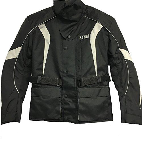 Nuove giacche moto da uomo - XTRM PIONEER Giacca impermeabile tessile Sportivi Touring Jacket, Nero (5XL)