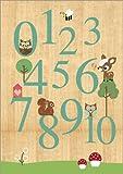 Posterlounge Forex-Platte 30 x 40 cm: Zahlen Lernen mit Eulen von GreenNest