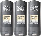 3 x Dove shower gel Men sensitive je 250 ml,