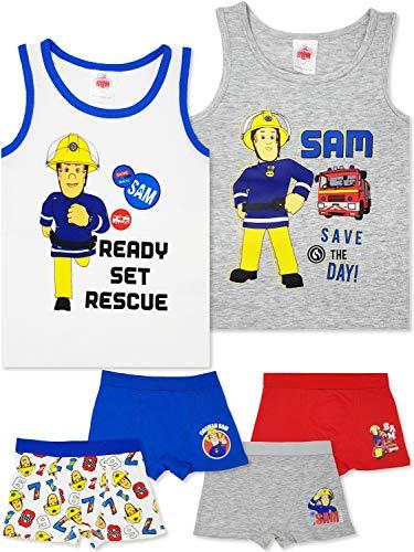 Feuerwehrmann Sam - 6-TLG. Jungen Unterwäsche-Set (98/104 (Herstellergröße: 2-3 Jahre))