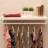 Everyday Home Kleiderständer Massivholz Eisen Wand Retro Haken Wand Kombination Kleidung Rack Fit für Schlafzimmer/Schlafzimmer / Studie/Garderobe (80 cm, 100 cm, 120 cm)