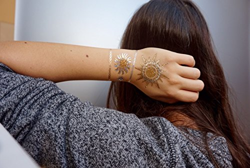 GOLD Tattoo, Flash Tattoos, Haut Tattoos, Sonne, Mond, Sterne, toller Haut Schmuck, Modeschmuck, YS-57