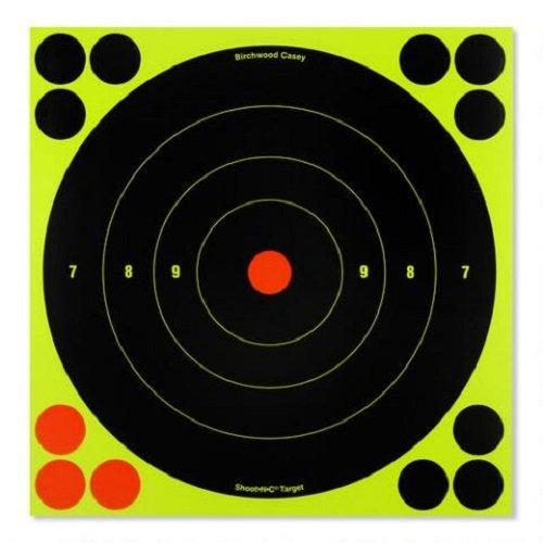 Birchwood Casey Zielscheiben Shoot N C, rund, Target 20,3cm 30Ziele 120Pasters 34825High Viz Zielscheiben Air Gewehr Pistole selbstklebend (Viz Air)