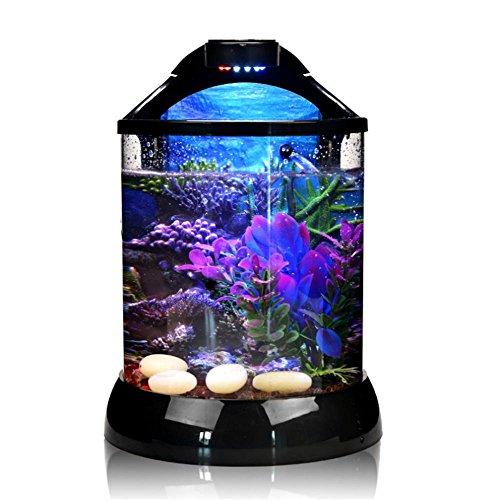 Ruyi&JixiangDesktop Fish Tank Creative 3D background Fütterung kleiner Fisch