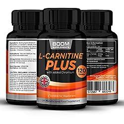 Acetil L Carnitina Plus | 120 Tabletas de máximo efecto de L-carnitina | Dosis para 4 meses COMPLETOS | Cápsulas de refuerzo energético | Las pastillas más vendidas | Garantía total por 30 días | Seguras y efectivas