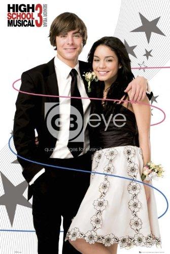 eLITe High School Musical 3Troy Zac Efron und Gabriella Vanessa Hudgens Große Film Film Poster-61x 91,5cm (Musical-dekorationen High School)