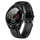 OJBDK Smart Watch Wasserdichte Herren Farbbildschirm Blutdruck Smartwatch Multi-Sport Mode Pulsmesser EKG IP68 für iOS und Android-1.54 Zoll,Gray